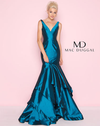 Mac Duggal 62903L Prom Dress Peacock