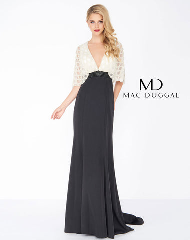 Mac Duggal 62925R Prom Dress Black/White