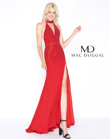 Mac Duggal 62974A Prom Dress Red