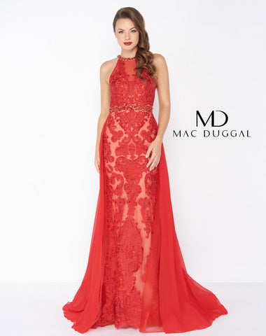 Mac Duggal 62976R Prom Dress Red
