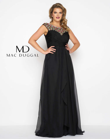Mac Duggal 65974F Prom Dress Black