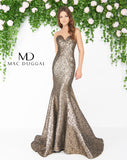 Mac Duggal 66025D Prom Dress Antique Mercury