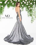 Mac Duggal 66025D Prom Dress Mercury Back