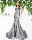 Mac Duggal 66025D Prom Dress Mercury