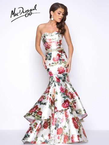 Mac Duggal Prom Dress 66029M Floral