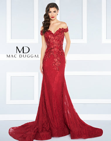 Mac Duggal Prom Dress 66214R Ruby