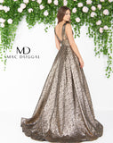 Mac Duggal 66217D Prom Dress Antique Gold Back