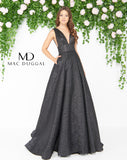 Mac Duggal 66217D Prom Dress Black