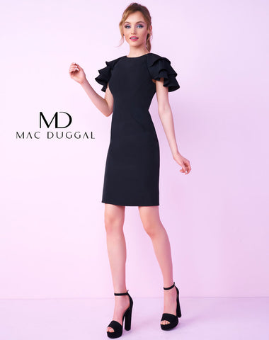 Mac Duggal 66224C Homecoming Dress Black