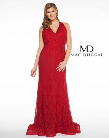 Mac Duggal 66277F Prom Dress Red