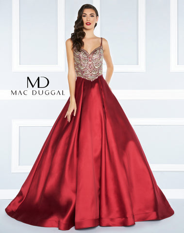 Mac Duggal Prom Dress 66285 Deep Red