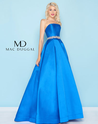 Mac Duggal 66326H Prom Dress Blue