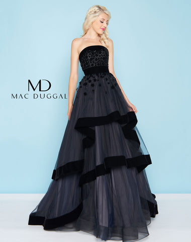 Mac Duggal 66346H Prom Dress Black