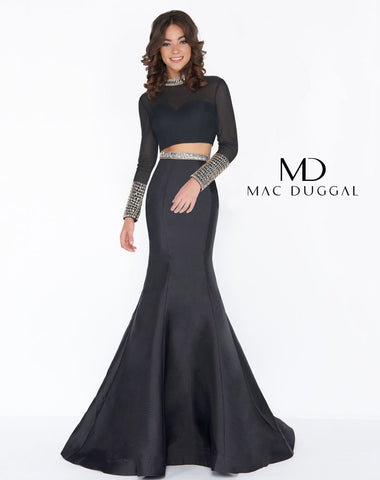 Mac Duggal 66352A Prom Dress Black