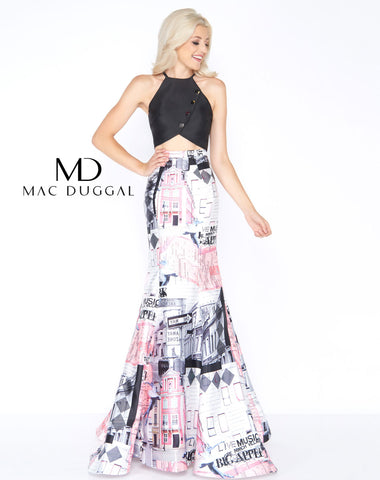 Mac Duggal 66374A Prom Dress Empire State of Pink