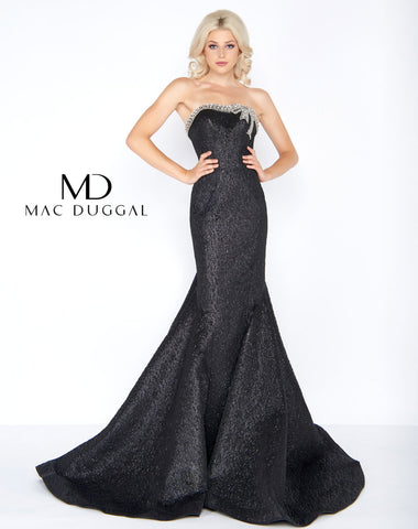 Mac Duggal 66444A Prom Dress Noir