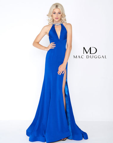Mac Duggal 66465A Prom Dress Cobalt