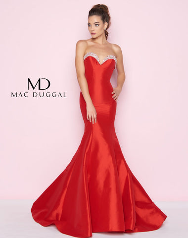 Mac Duggal 66498L Prom Dress Red