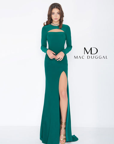 Mac Duggal 66509A Prom Dress Deep Green