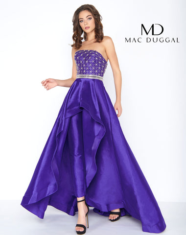 Mac Duggal 66522A Prom Dress Royal/Purple