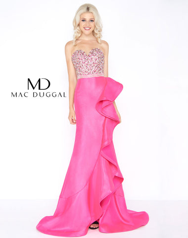 Mac Duggal 66527A Prom Dress Haute Pink