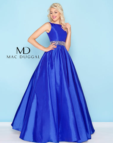 Mac Duggal 66533H Prom Dress Royal