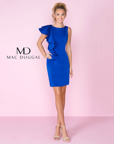 Mac Duggal 66549C Homecoming Dress Cobalt