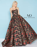 Mac Duggal 66555H Prom Dress RedBlack