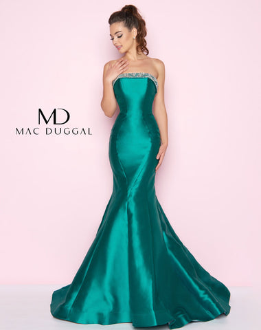 Mac Duggal 66561L Prom Dress Emerald
