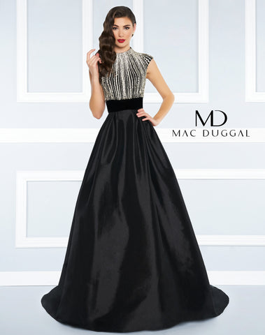 Mac Duggal Prom Dress 77269R Black