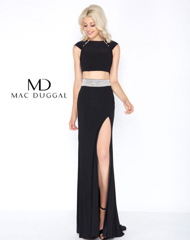 Mac Duggal 77411A Prom Dress Black