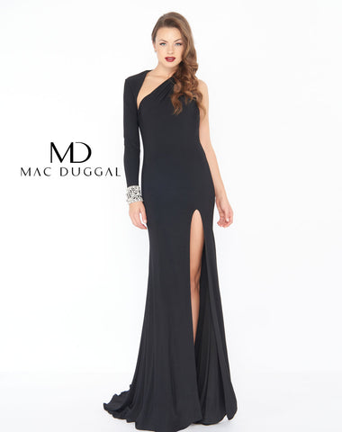 Mac Duggal 77413R Prom Dress Black