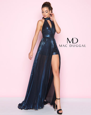Mac Duggal 77423L Prom Dress Midnight