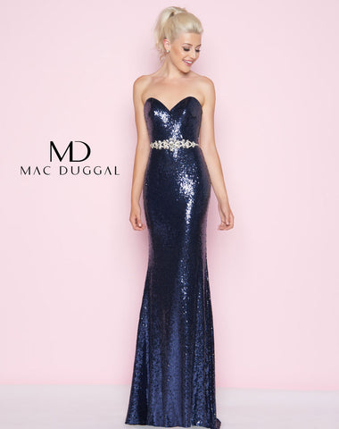 Mac Duggal 77427L Prom Dress Midnight