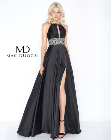 Mac Duggal 77435A Prom Dress Black