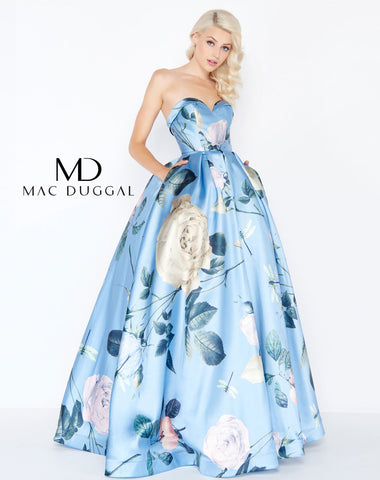Mac Duggal 77456M Prom Dress Powder Blue