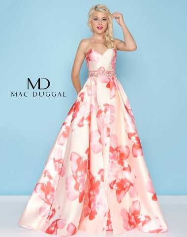 Mac Duggal 79094H Prom Dress Petal Peach