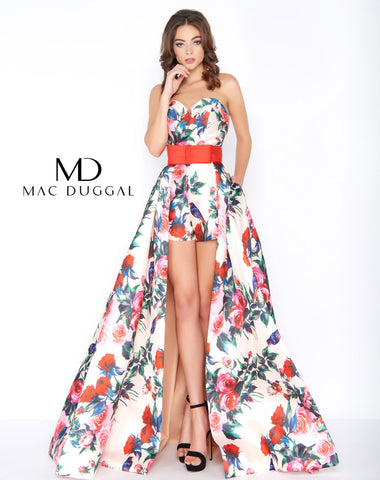Mac Duggal 79097A Prom Dress Floral Romance