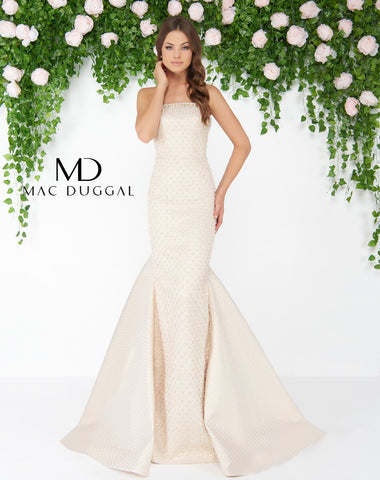 Mac Duggal 79183D Prom Dress Vanilla