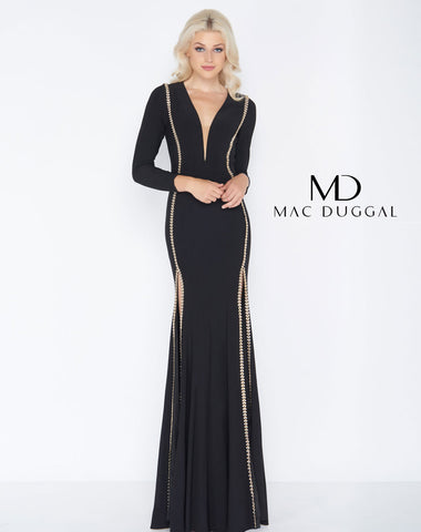 Mac Duggal 79186A Prom Dress Black/Gold