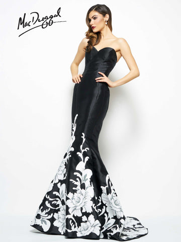 Mac Duggal Prom Dress 80629R Black/Ivory