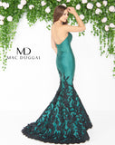 Mac Duggal 80761D Prom Dress Emerald/Black Back