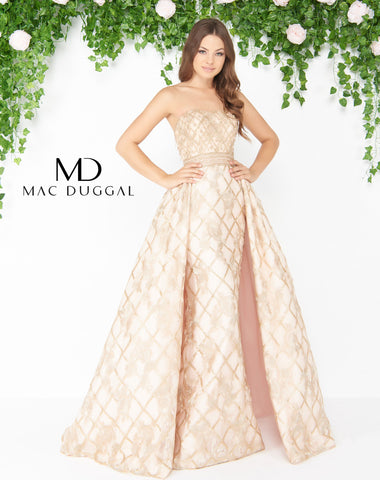Mac Duggal 80796D Prom Dress Pearl Blush