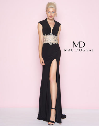 Mac Duggal 82228L Prom Dress Black