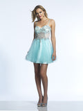 Homecoming Dress Dave & Johnny 852 Ice Blue