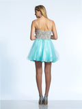 Homecoming Dress Dave & Johnny 852 Ice Blue Back