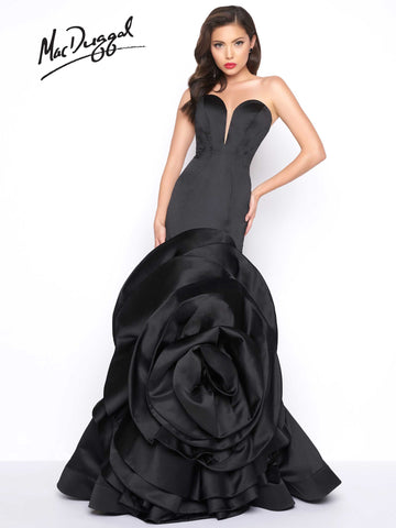 Mac Duggal Prom Dress 85513R Black