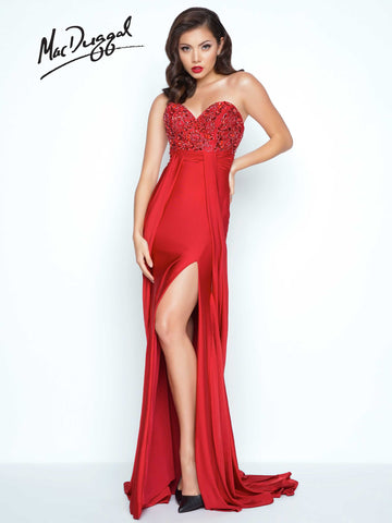 Prom Dress Mac Duggal 85631R Red