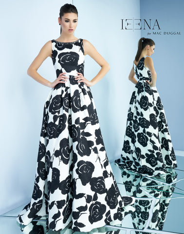 Mac Duggal 8821I Prom Dress Black/White
