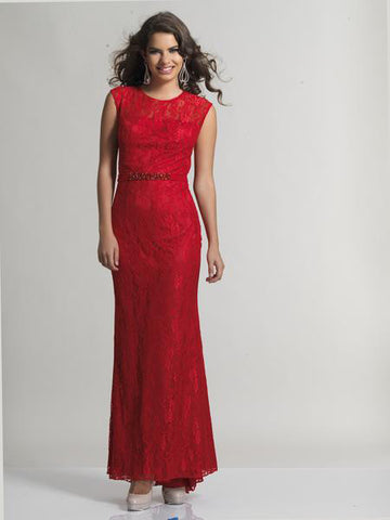 Dave & Johnny 1399 Red Prom Dress